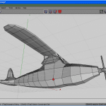 Vertices mode, select and bevel vertex for wing supporter