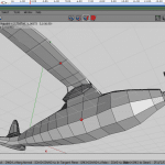 Select upper wing vertex, bevel for supporter