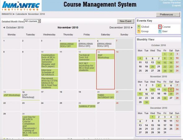Calendar module