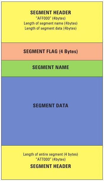 AFF file segment organisation