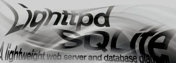 lighttpd + SQLite