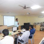 Baskar conducting a workshop at S M K Fomra Institute of Technology, Chennai