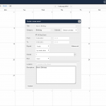 The calendar application