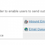 Outbound and inbound mail settings