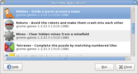Figure 2: Do you want to run the newly-installed applications?