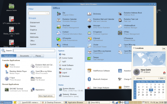 Figure 2: The default GNOME desktop