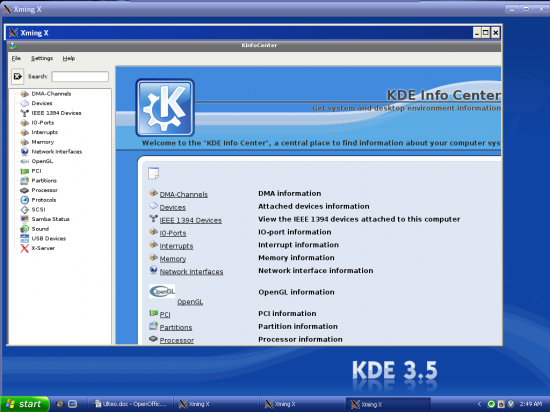 Figure 4: Running a full-fledged KDE on Windows
