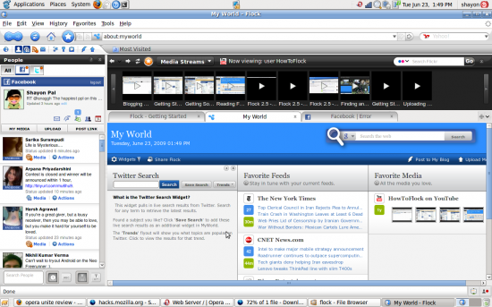 With the wider top bar, the side bar and the media browser, hardly any space remains for meaningful browsing