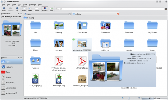 Image preview in Dolphin file manager