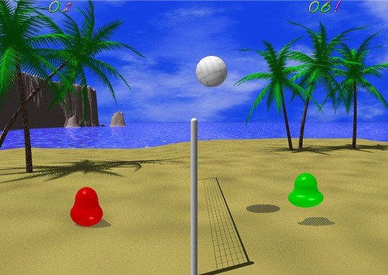 Linux Game Review: Blobby Volley