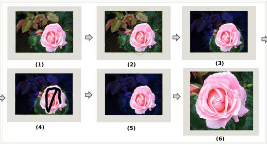 Figure 6: Isolating an image using Foreground selection