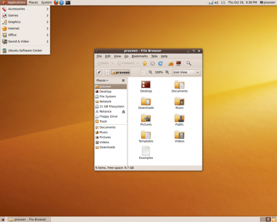 Desktop showing new design work