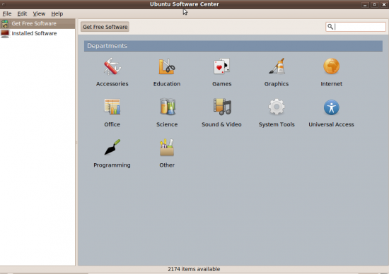 Figure 2: Ubuntu Software Centre—a one-stop app store