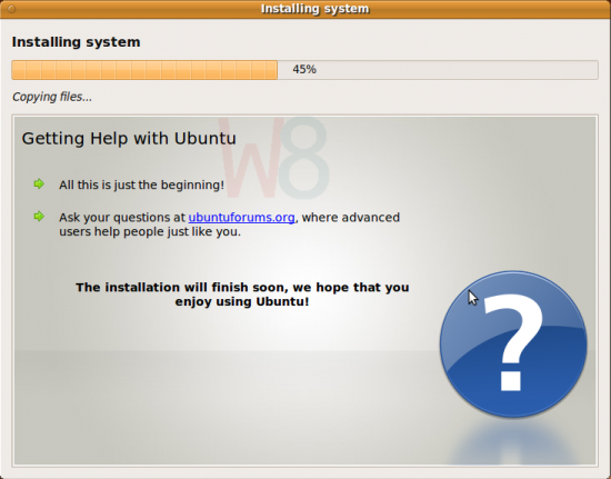 Figure 8: Improved Ubuntu installer