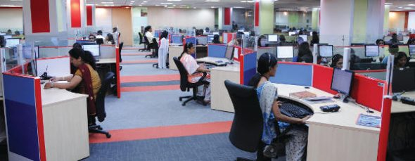 A section of the Just Dial office at Chennai