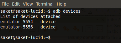 adb listing devices