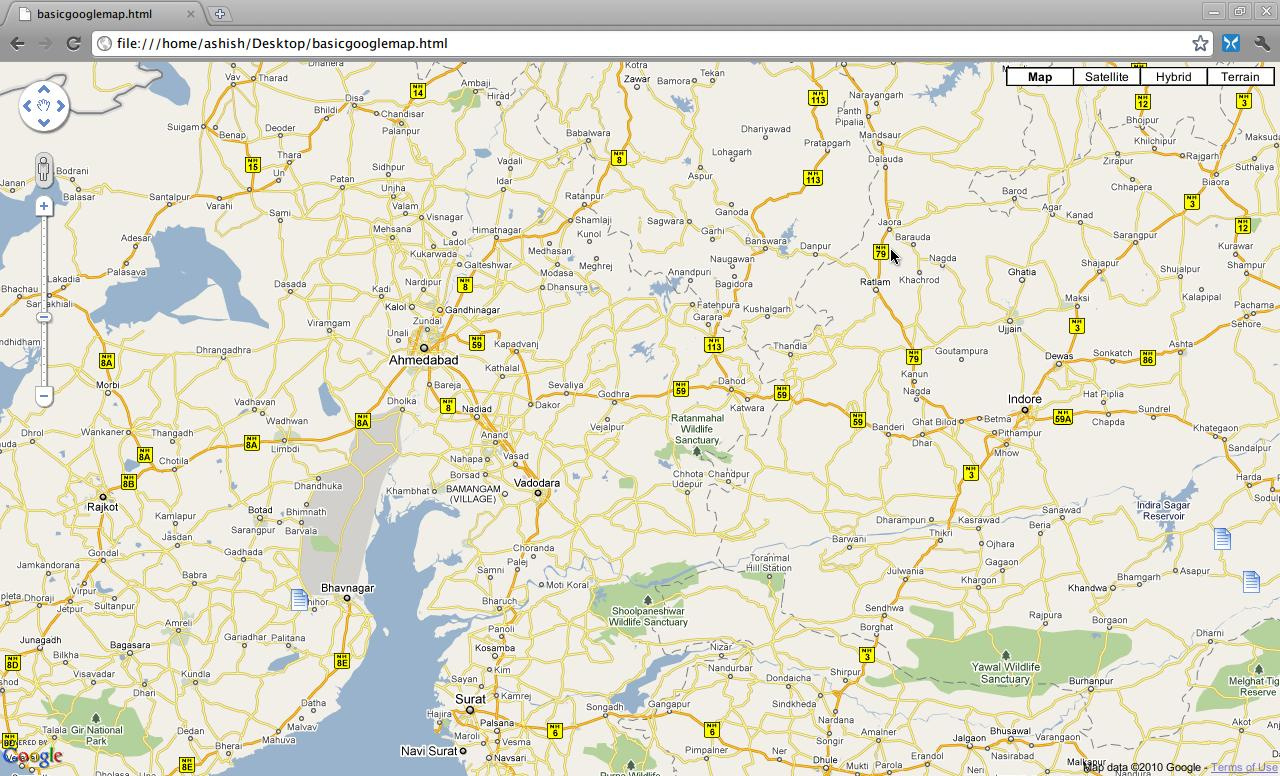 Google Maps integrated into an HTML page