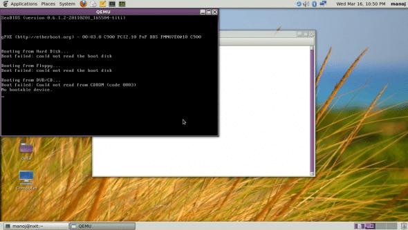 Testing QEMU after installation