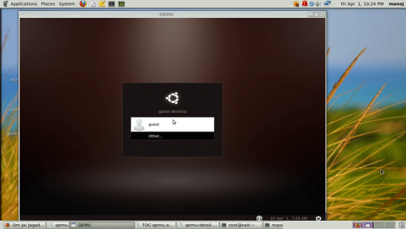 Booting the installed operating system