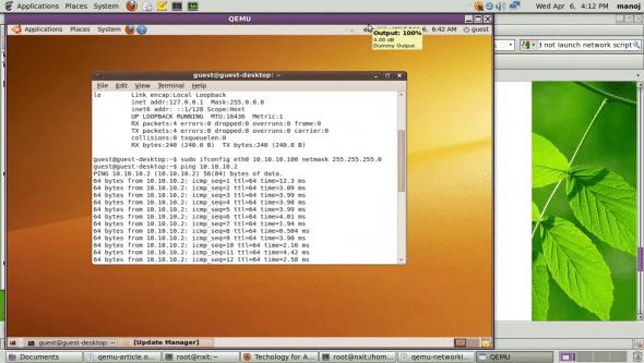 QEMU networking using kernel virtual device