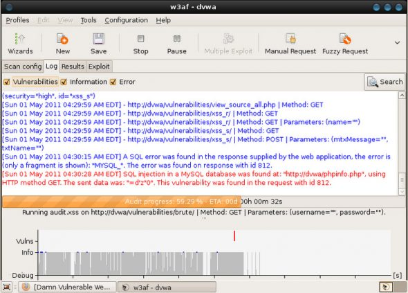 Vulnerability detected