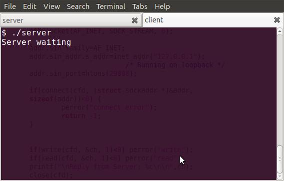 Figure 1: Server running