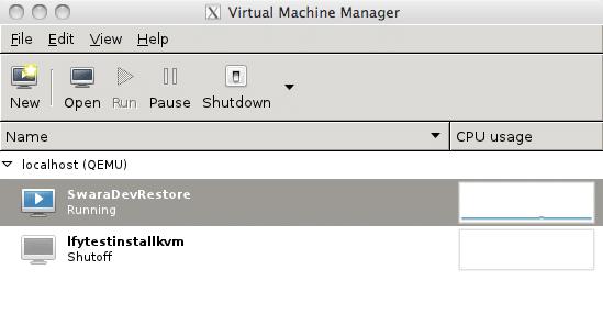 KVM's GUI virt-manager