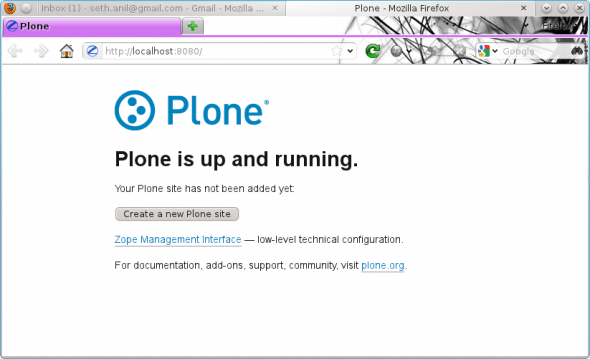 Plone after a fresh installation