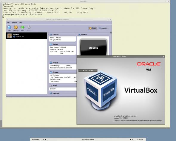 Running VirtualBox in OpenIndiana
