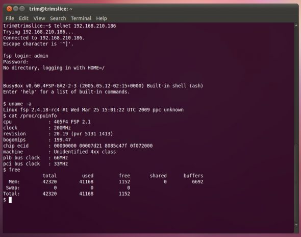 Embedded Linux runs on PowerPC 405 from IBM