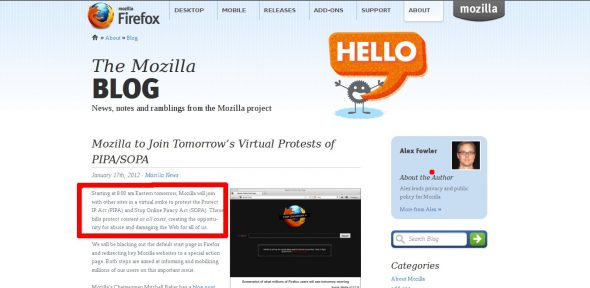 Mozilla, the foundation and project that is 'dedicated to keeping the Web free, open and accessible to all', will join the cause for 12 hours soon