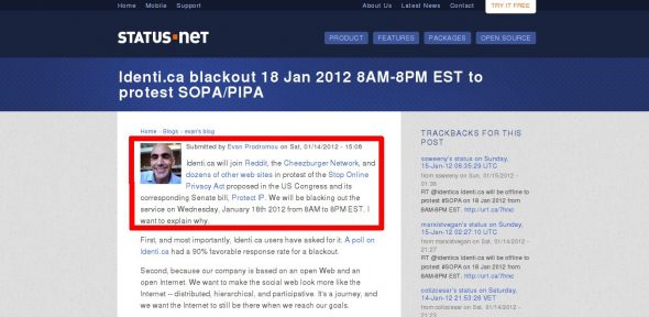 status.net official blog reports they will take down identi.ca for 12 hours