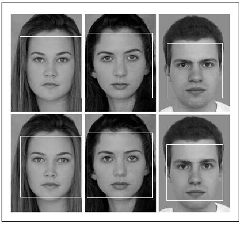 Faces detected in the supplied source image