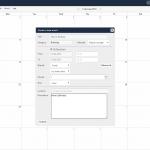 The calendar application