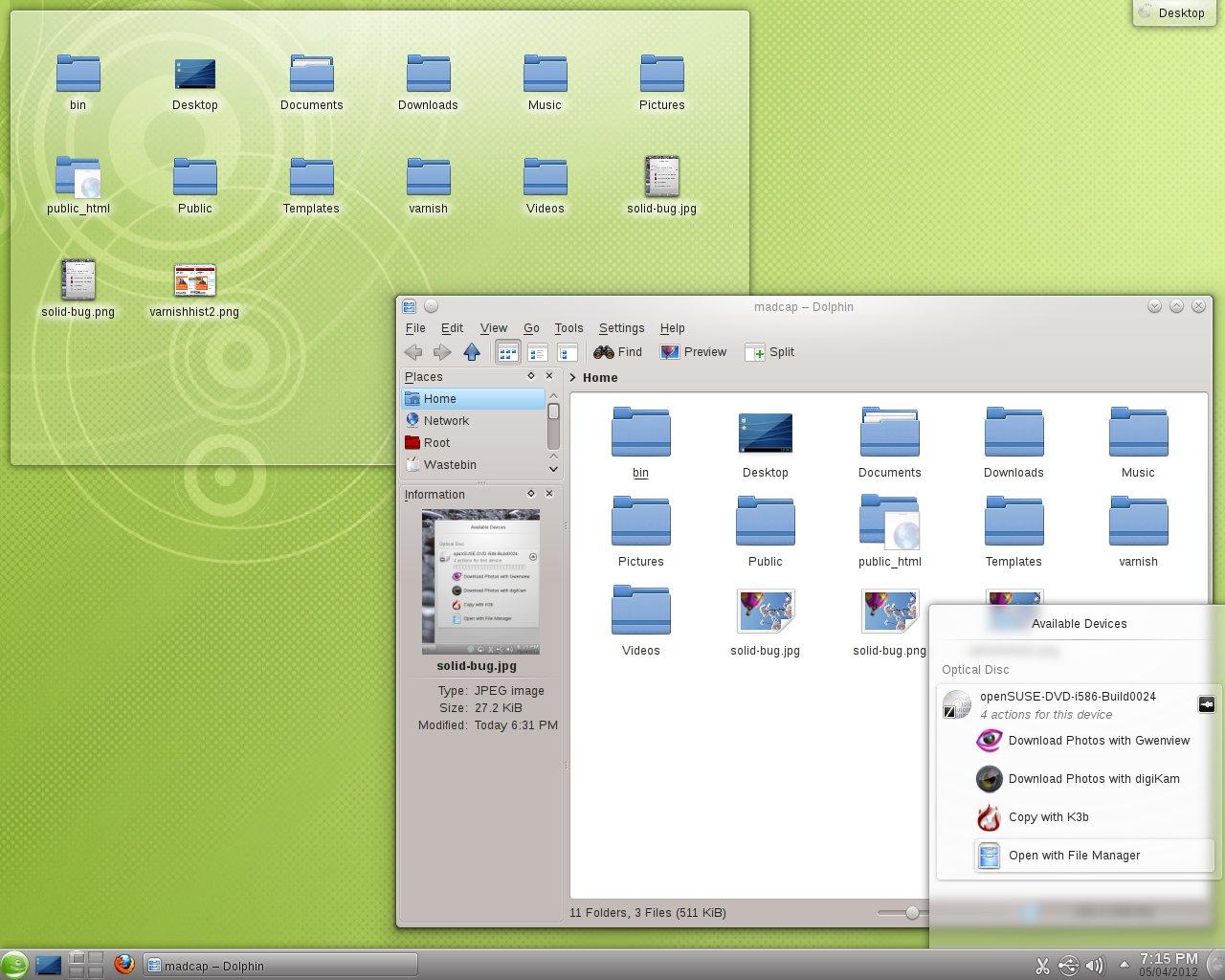 Shiny new KDE 4.8.2