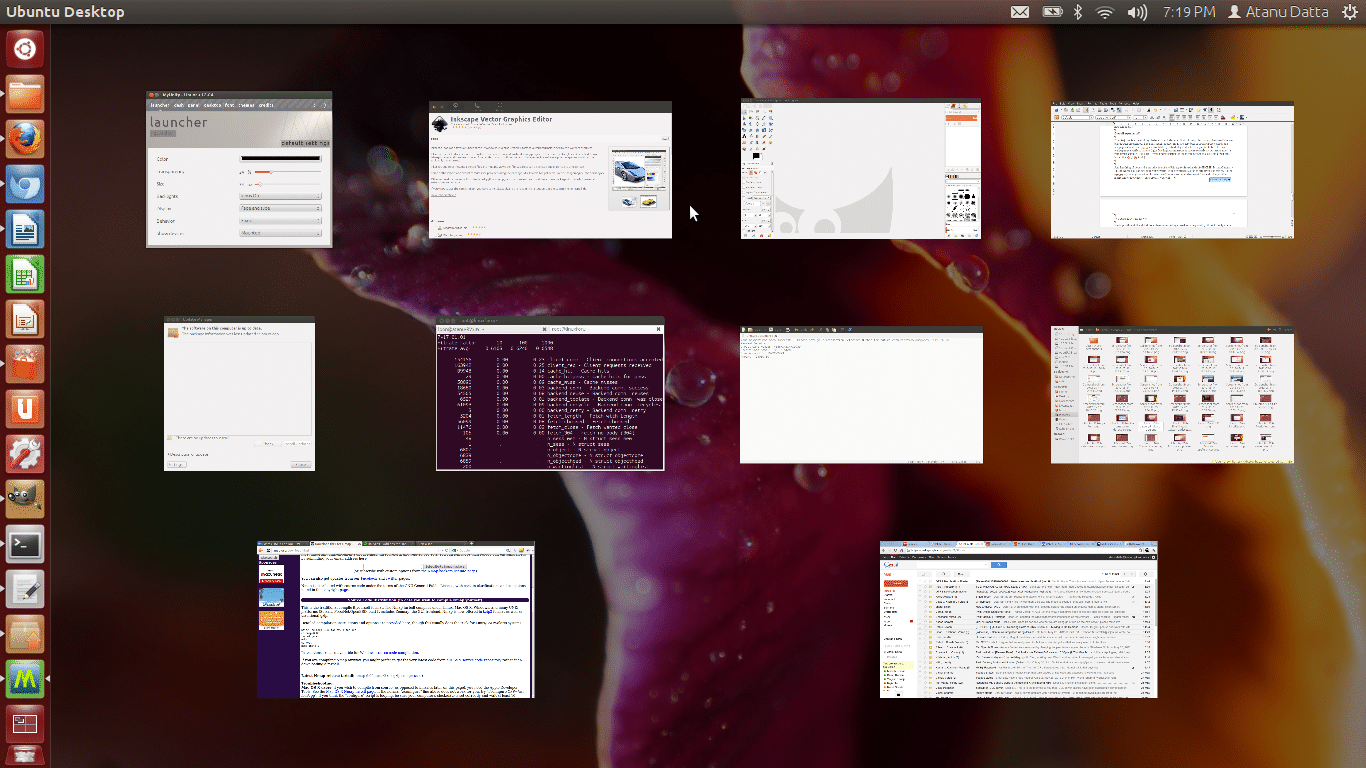 Super+W to spread all windows in the current workspace