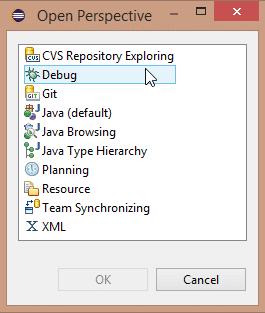 Figure 5 Eclipse Java Perspective-Luna