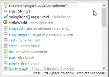 Figure 9 Eclipse Code Recommenders