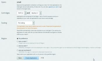 Figure 4: WordPress configuration on OpenShift-II