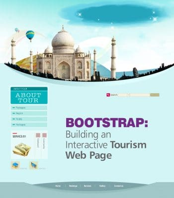 intractive tourism page template