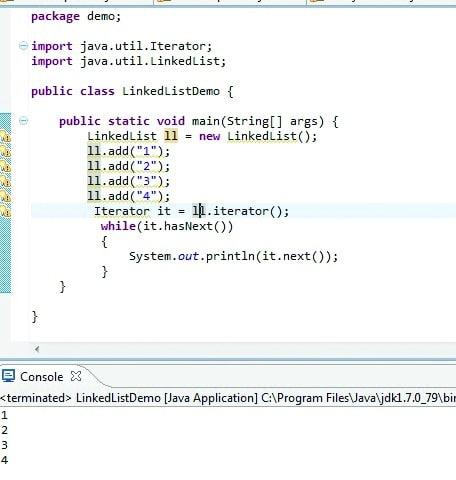 Linked List Demo | HashMapCode