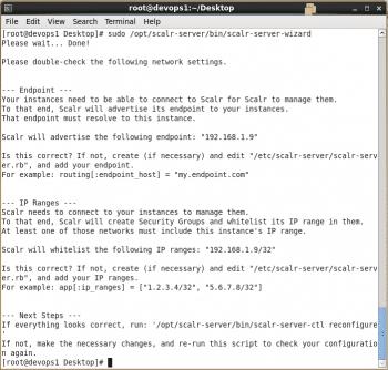 Figure 9 Generate Scalr configuration files