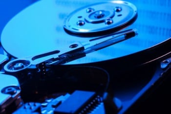 open the hard drive in blue light