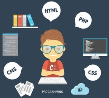 Programmer working