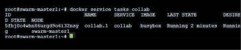 Figure 10 Listing the Docker service