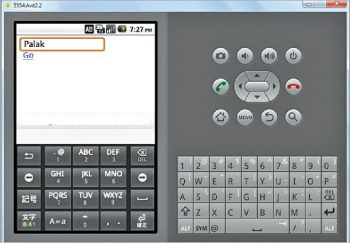 Figure 8 Running phoneGap application in the Android Emulator
