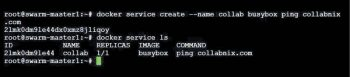 Figure 9 Creating a Docker service
