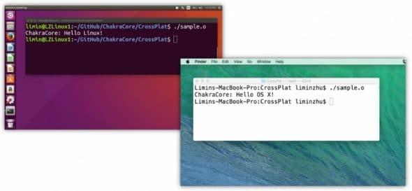 Microsoft ChakraCore JavaScript engine on Linux