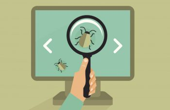 searching virus illustration