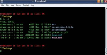 Figure 1 Optimised and colour coded GNOME Terminal
